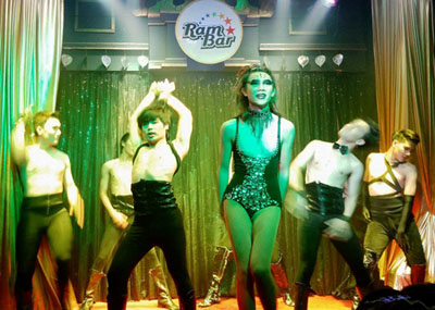 all action cabaret show at ram bar chiangmai